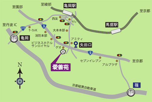 愛善苑の地図